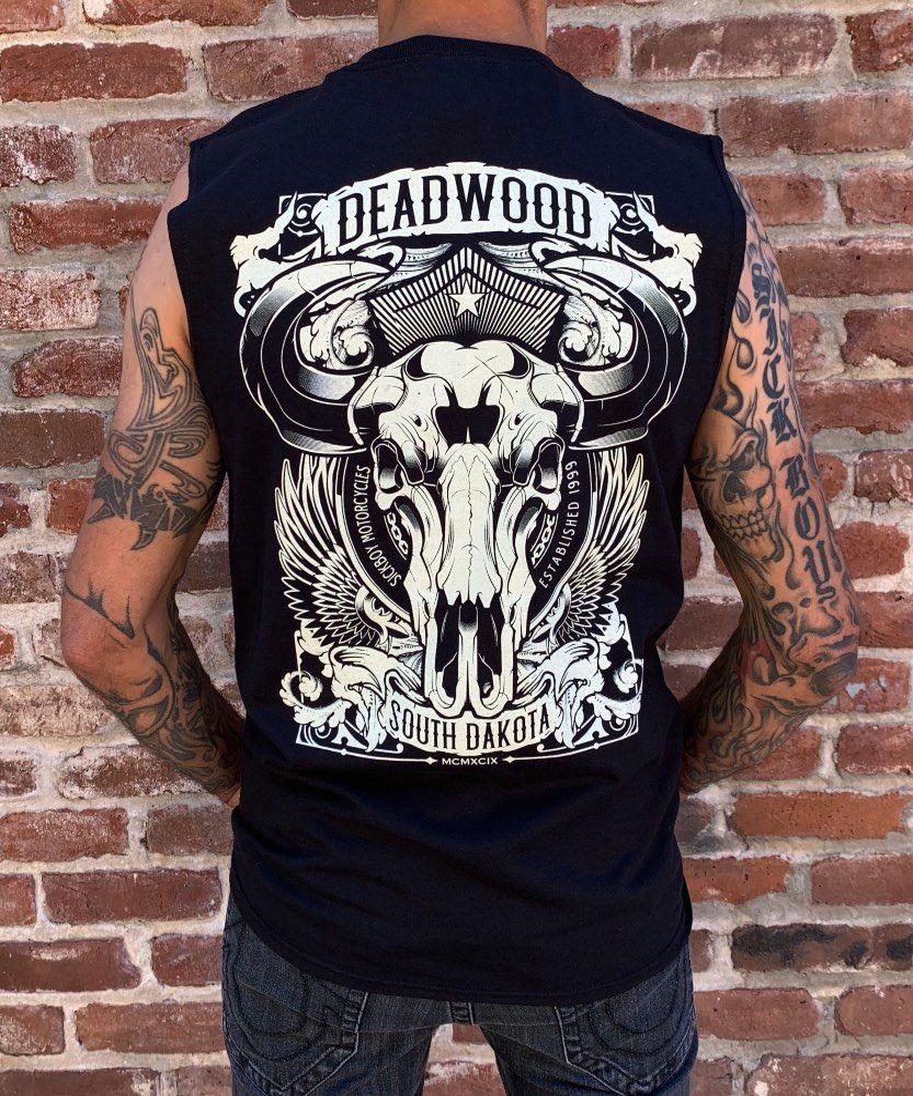 Deadwood Buffalo Skull Sleeveless