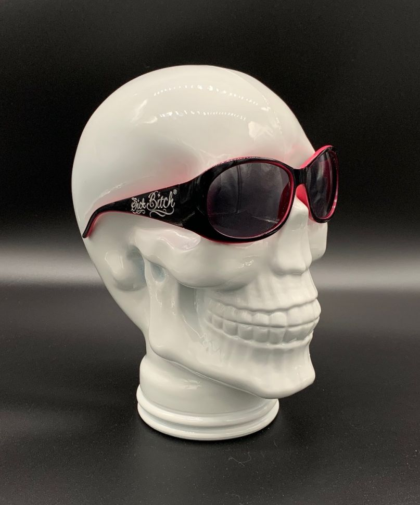 Sick Bitch Pink Lined Sunglasses