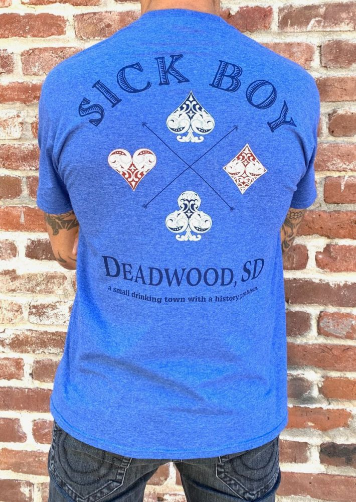 Deadwood Blue Whiskey Tee
