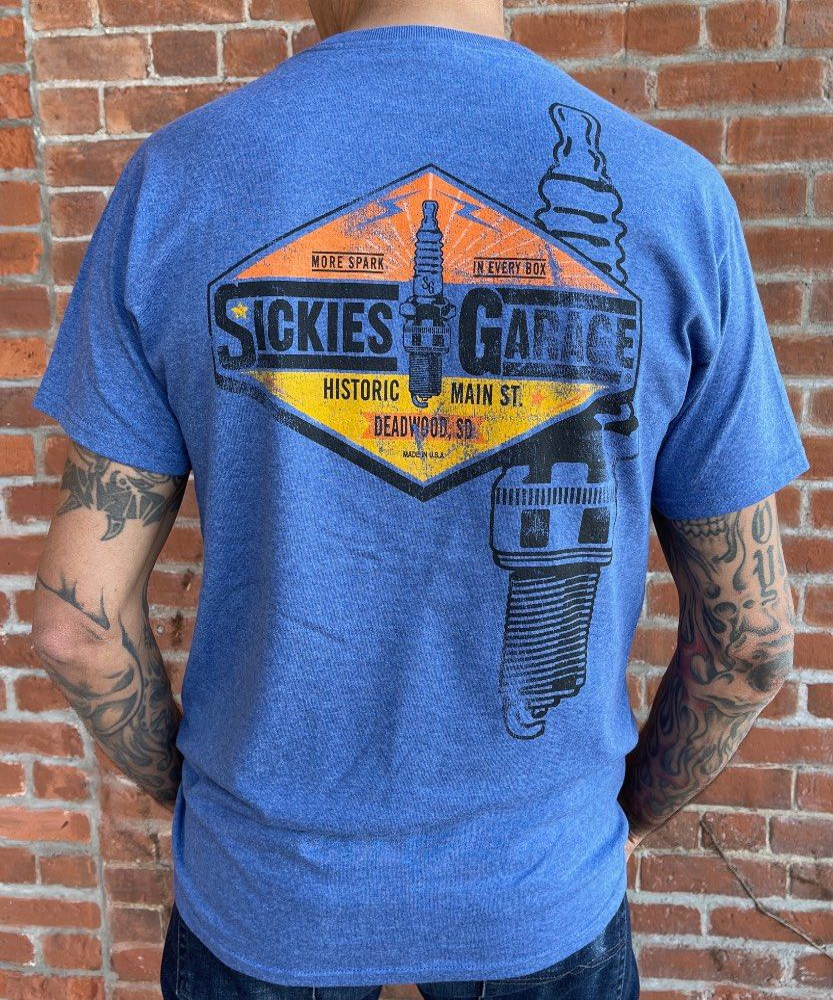 Sickies Garage Spark Plug T-shirt