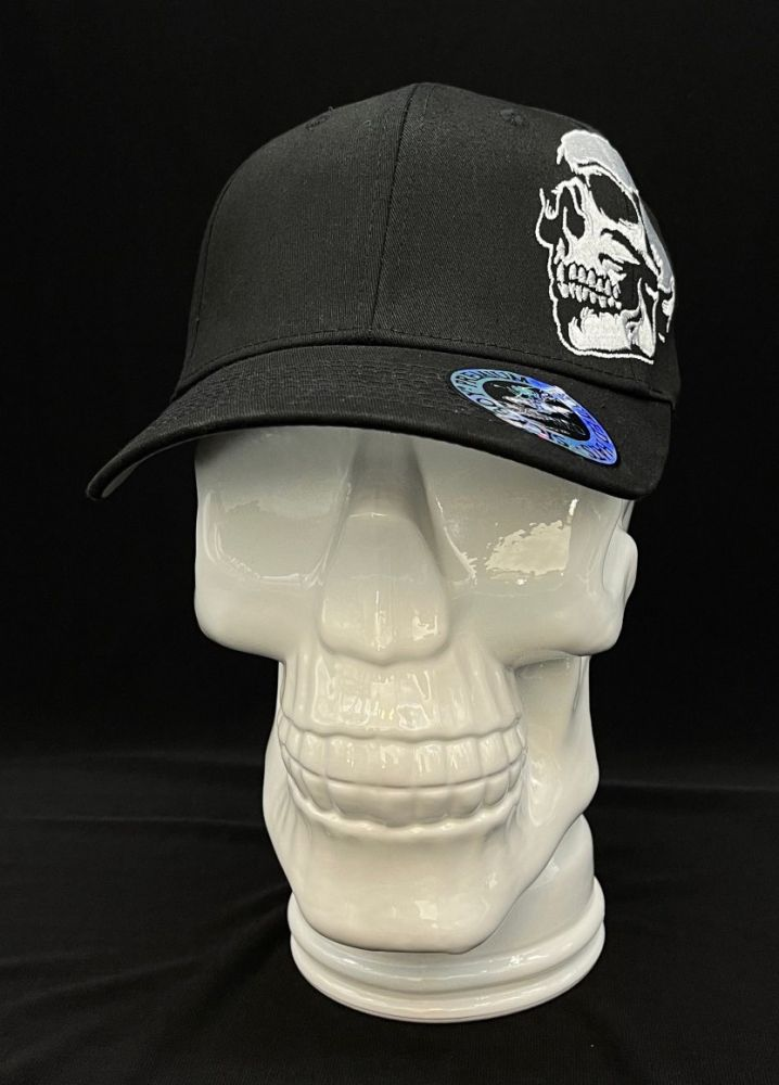Curved Side Skull Fitted Cap