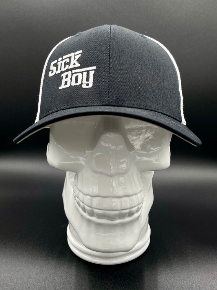 Sick Boy black and white SIF fitted cap