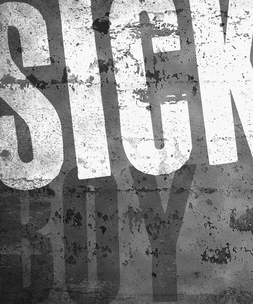 Sick Bitch army hat - Black & Silver