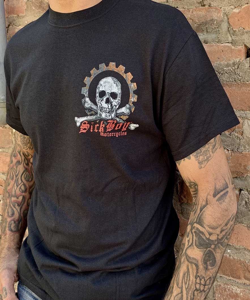 Sick Boy Sprocket and Skull T-shirt