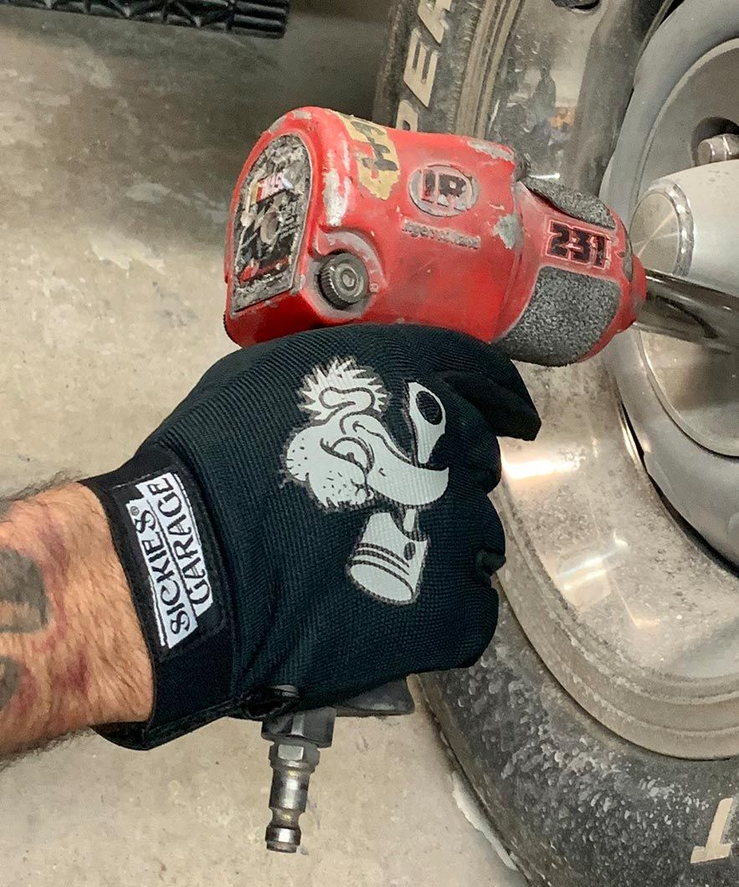 "Sickies Garage ""mechanics"" Style Black Gloves"