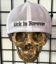 """Sick Boy """"Sick Is Forever"""" Charcoal Grey Fitted Trucker Hat - back"""