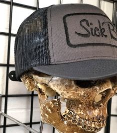 Ladies Sick Bitch Grey Snap Back Adjustable Hat - back