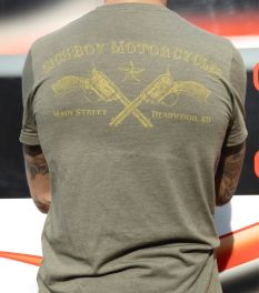 Sick Boy Motorcycles Olive Indian Specialty T-shirt